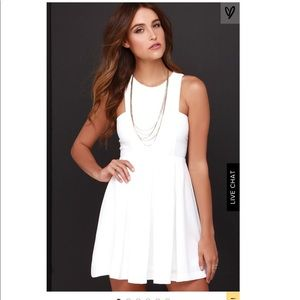 Lulus pleat it up white dress